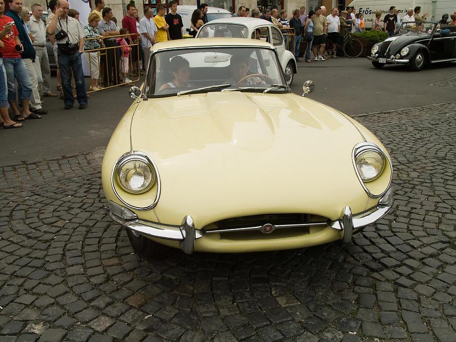 Jaguar Photograph - Old Jaguar Car by Odon Czintos