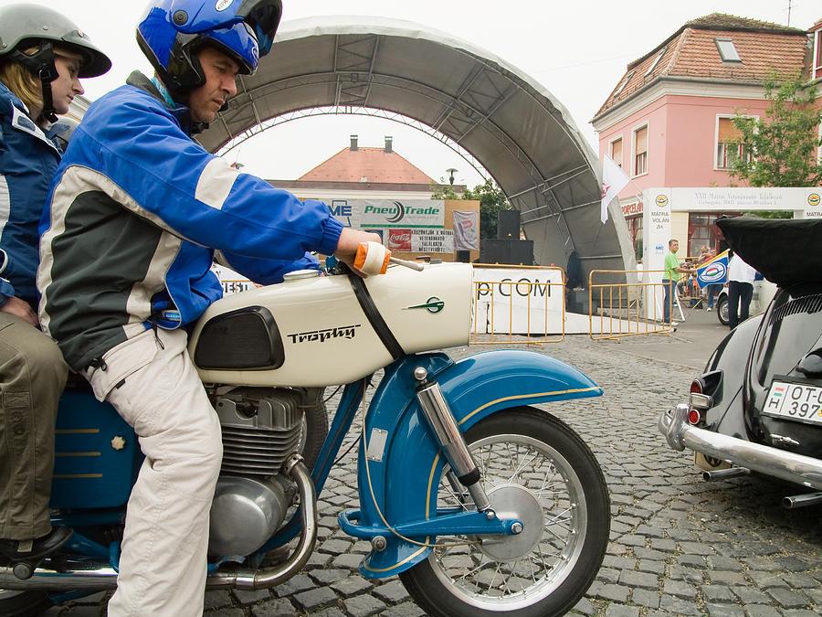 Jaguar Photograph - Old Motorcycle by Odon Czintos