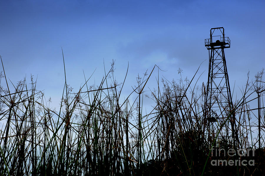 Old Photograph - Old Oil Tower by Antoni Halim