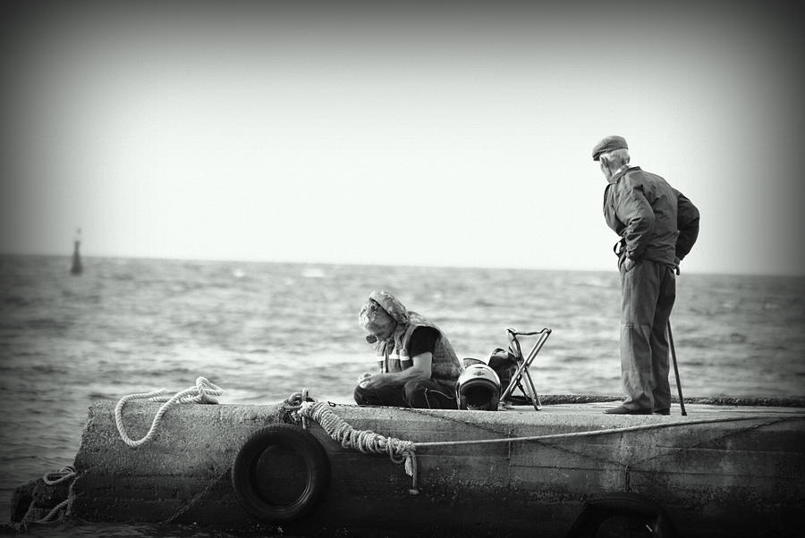 Old people fishing photograph by evelina burinskiene for Videos of people fishing