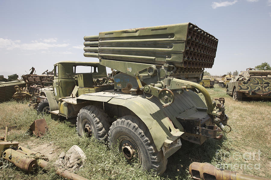 Army Photograph - Old Russian Bm-21 Launch Vehicle by Terry Moore