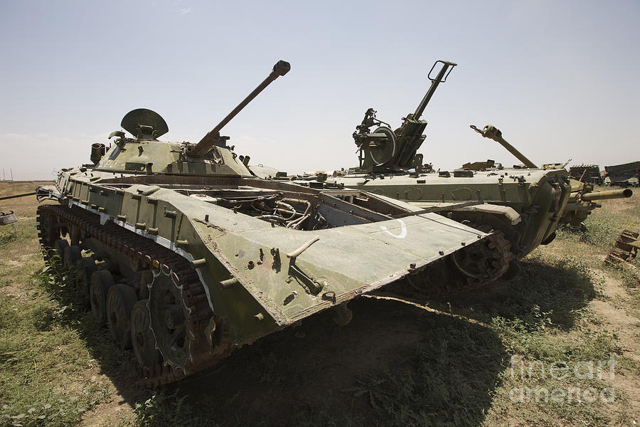 Relic Photograph - Old Russian Bmp-1 Infantry Fighting by Terry Moore