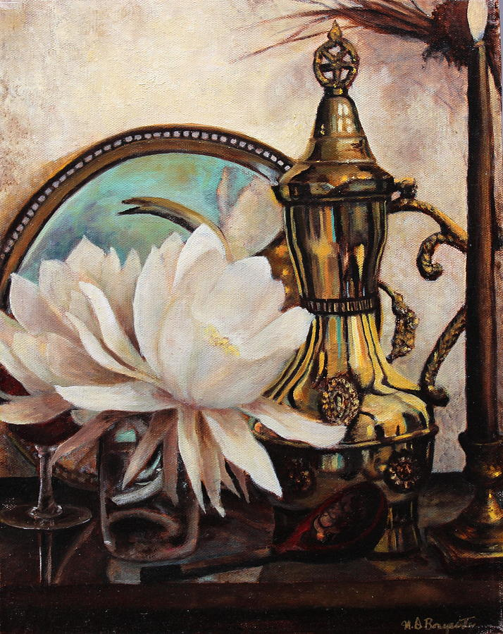 Still Painting - Old World Charm by M Diane Bonaparte