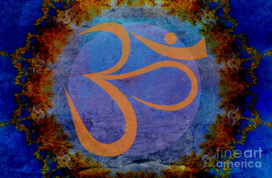 Om Painting - Om by Sacred  Muse
