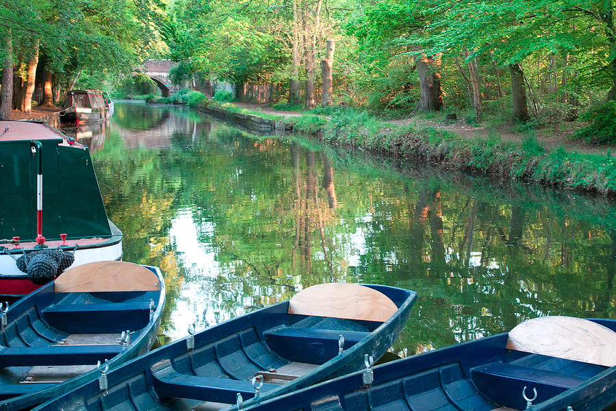 Canal Photograph - On The Canal by Shirley Mitchell