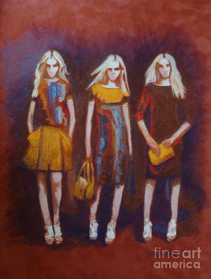 Fashion Painting - On The Catwalk by Phyllis Howard