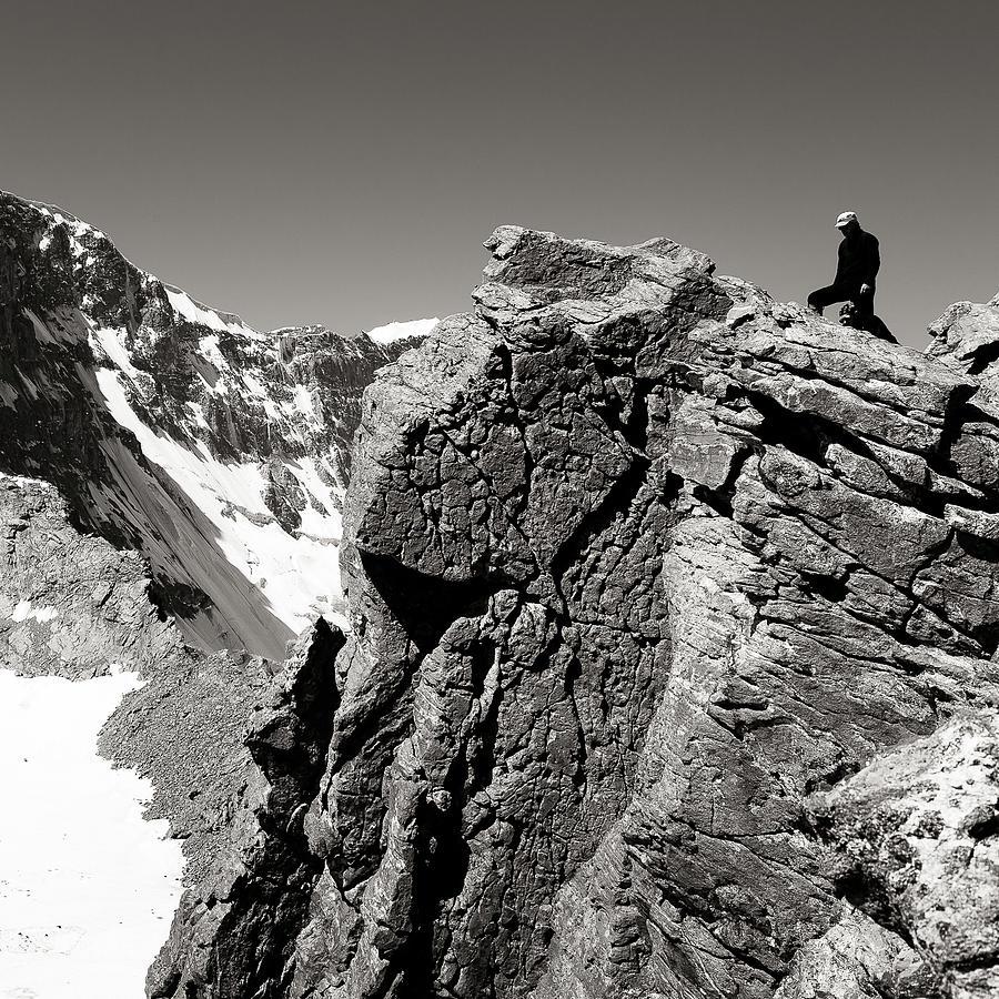 Black Photograph - On The Rock by Konstantin Dikovsky