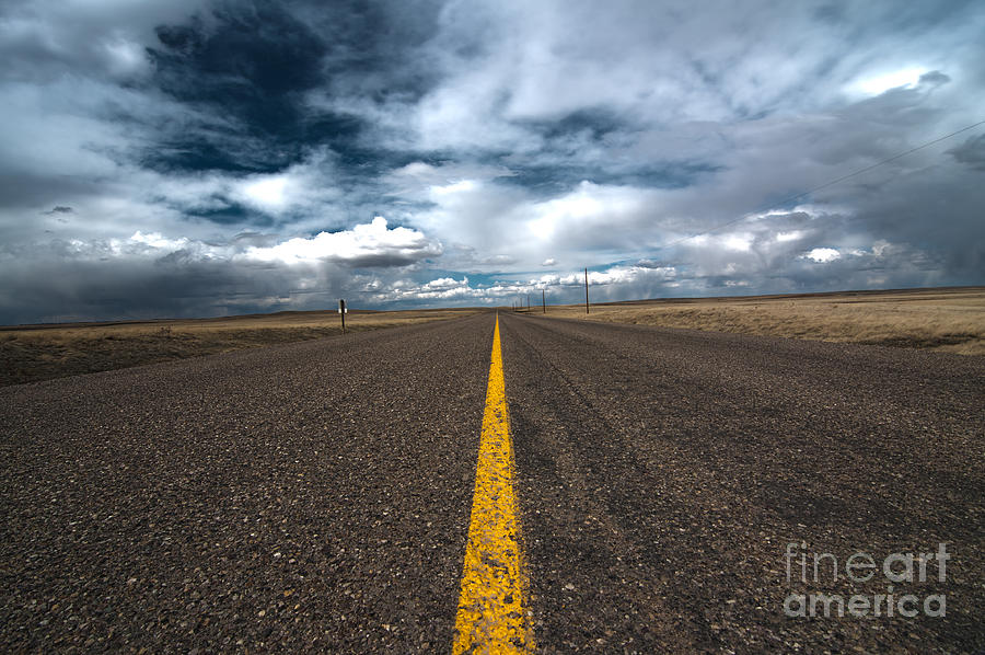 Scenic Drive Photograph - Open Highway by Arjuna Kodisinghe
