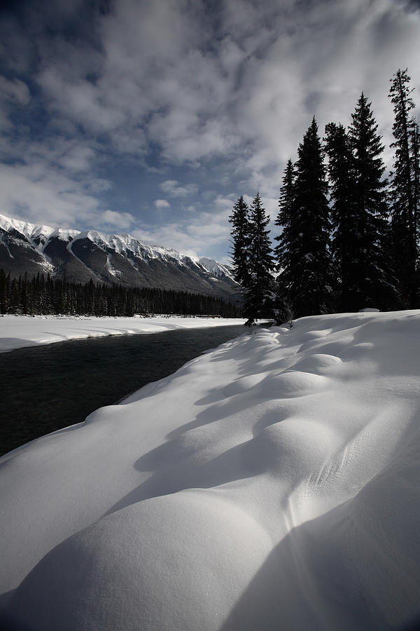 Snow Covered Photograph - Open Water In Winter by Mark Duffy