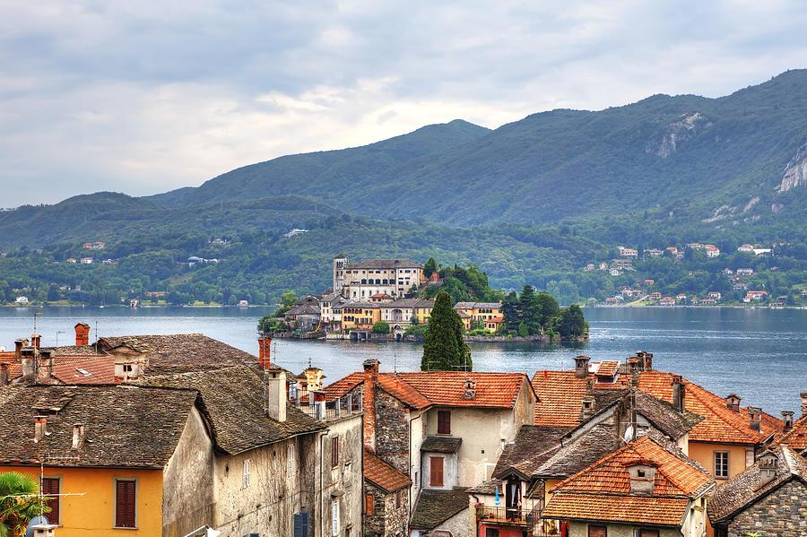 Orta Photograph - Orta - Overlooking The Island Of San Giulio by Joana Kruse