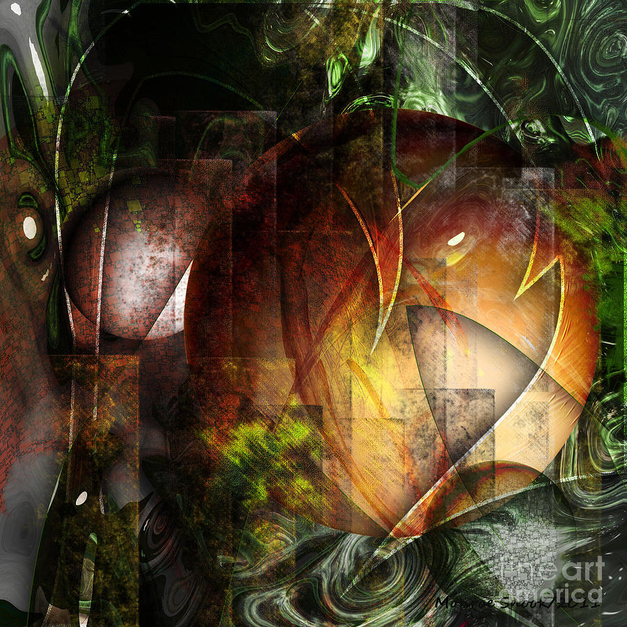 Abstraction Digital Art - Other World by Monroe Snook