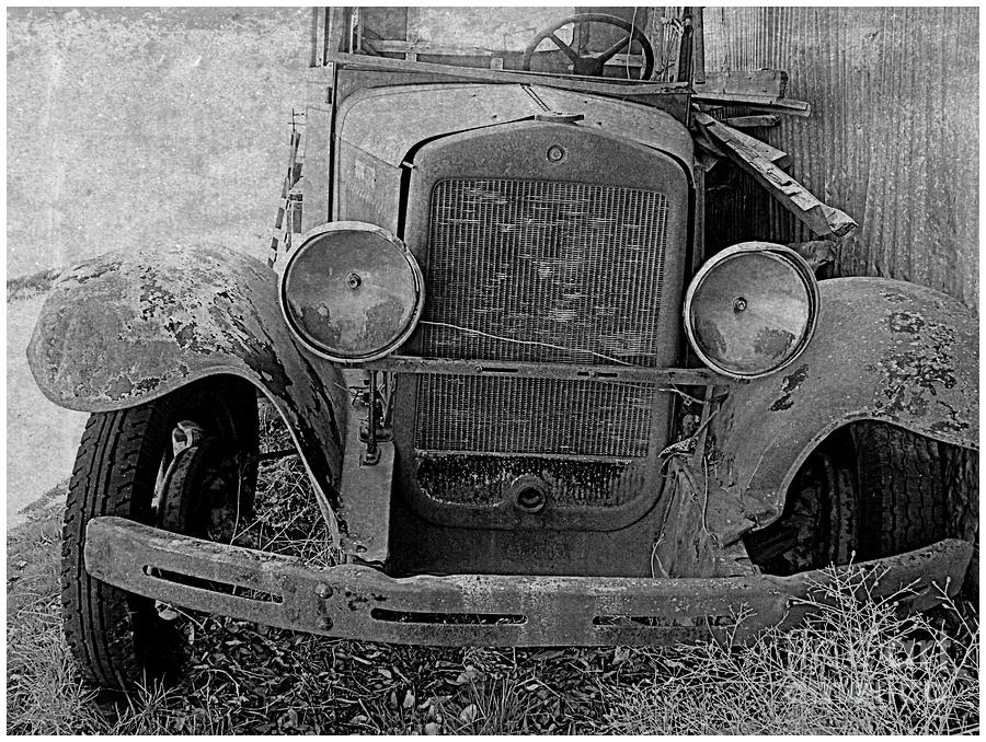 Cars Photograph - Out Of Service In Black And White by Irina Hays