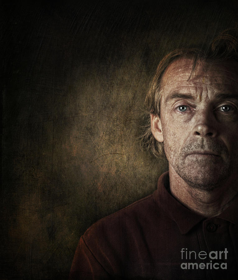 Anguish Photograph - Overwhelmed... by Sandra Cunningham