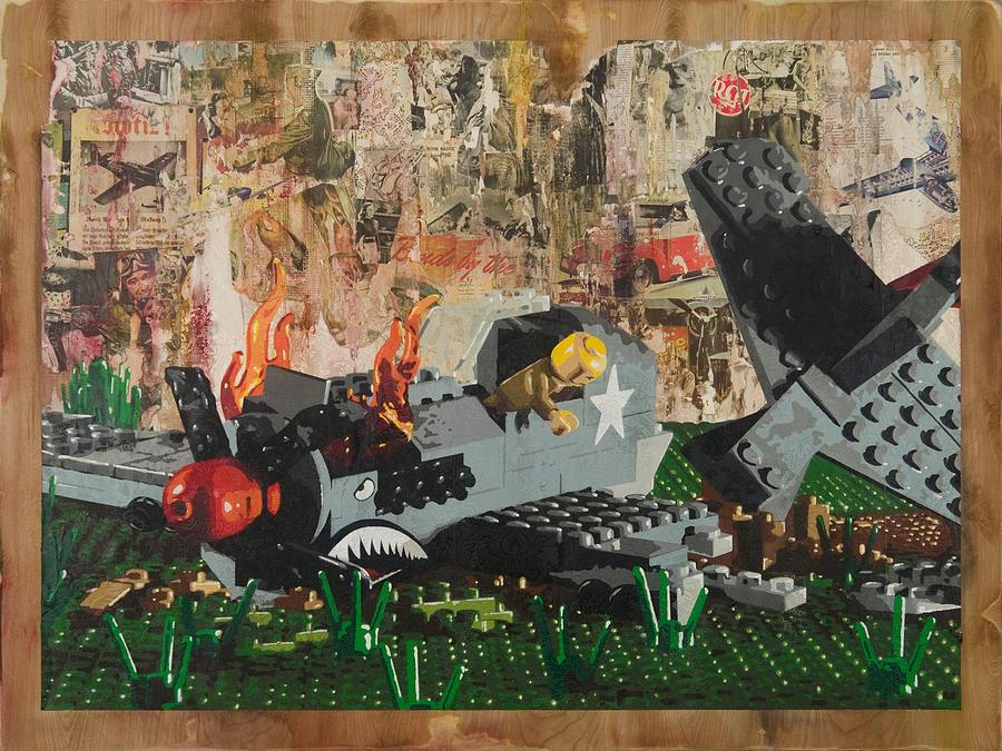 Lego Painting - P40 Down by Josh Bernstein