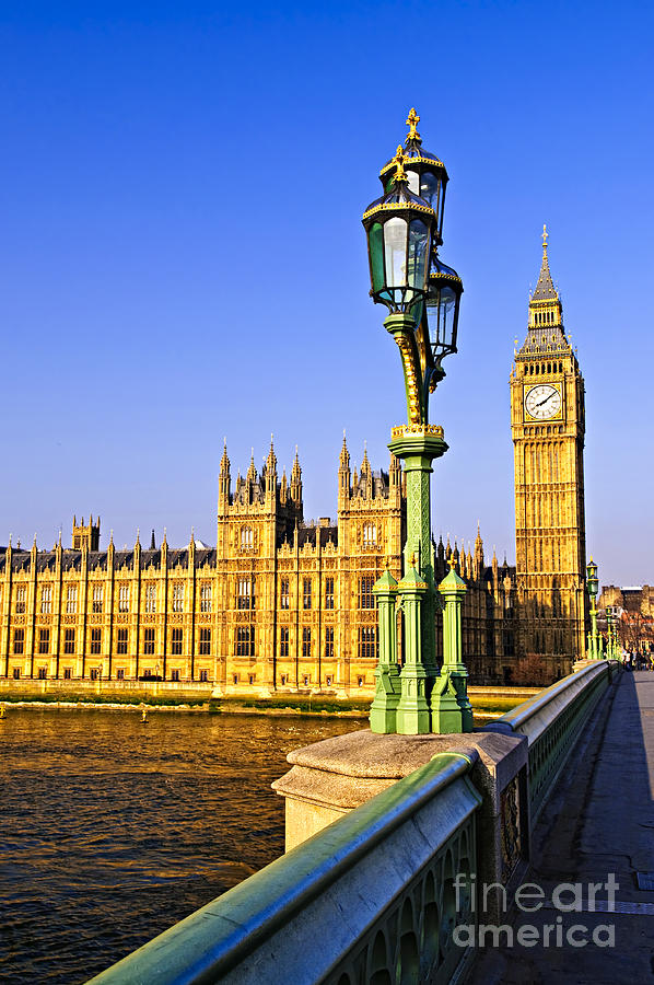 Palace Photograph - Palace Of Westminster From Bridge by Elena Elisseeva