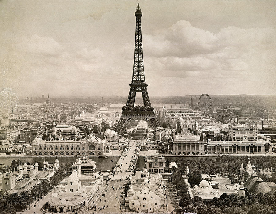 Paris Eiffel Tower 1900 Photograph By Granger