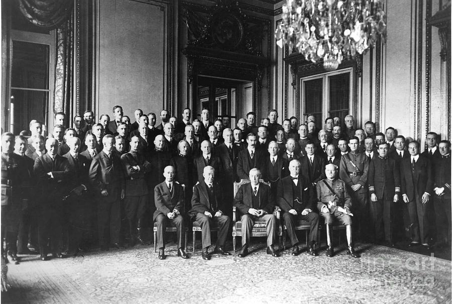 1919 Photograph - Paris Peace Conference by Granger
