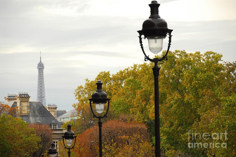 Paris Street With Light Posts Photograph