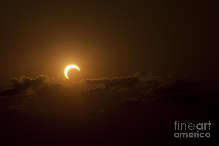 Natural Phenomenon Photograph - Partial Solar Eclipse by Phillip Jones