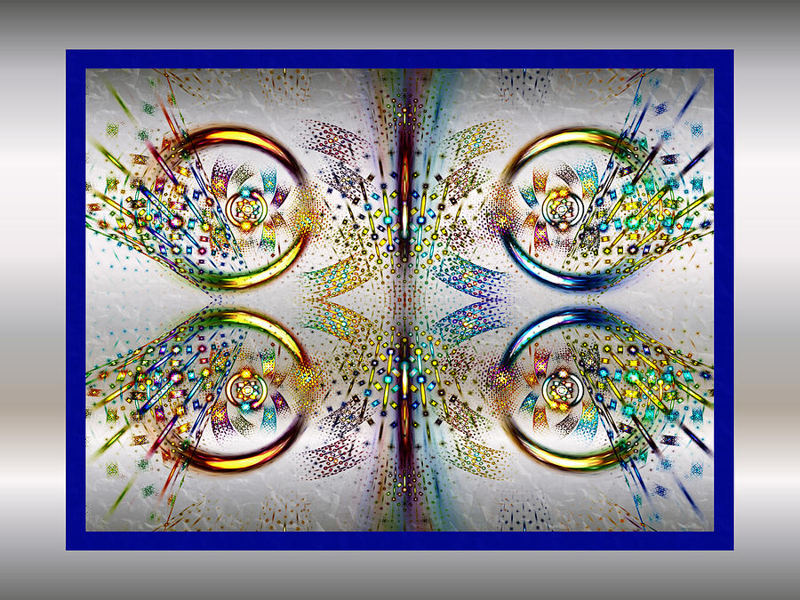 Fractal Digital Art - Party Mode by Janet Russell