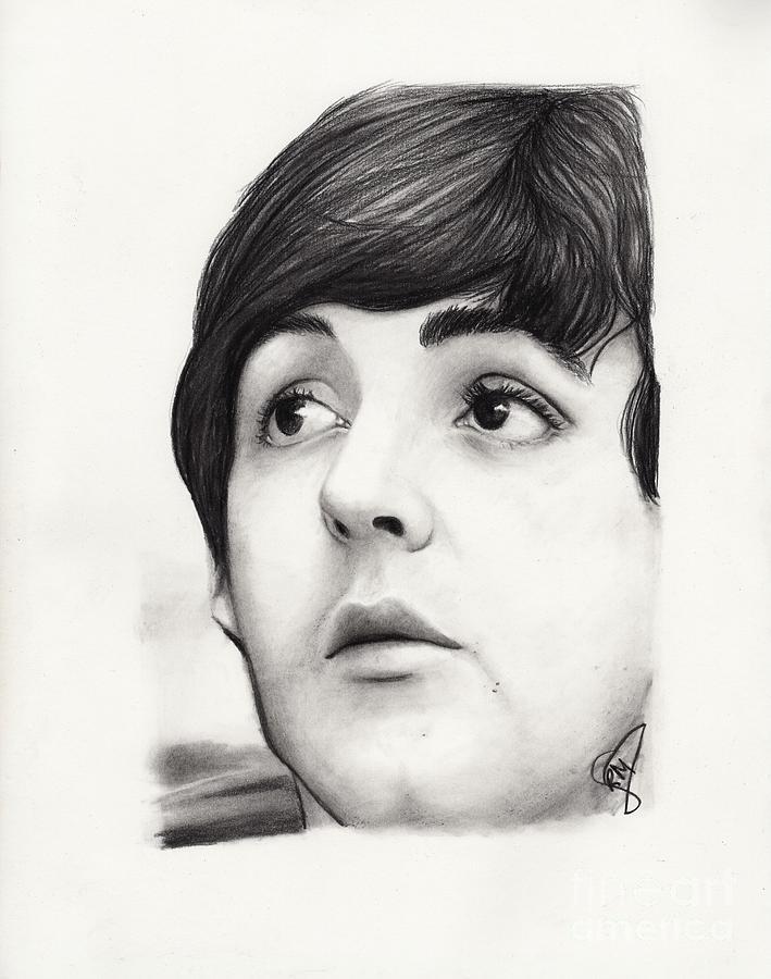 Paul Mccartney Drawing - Paul Mccartney by Rosalinda Markle