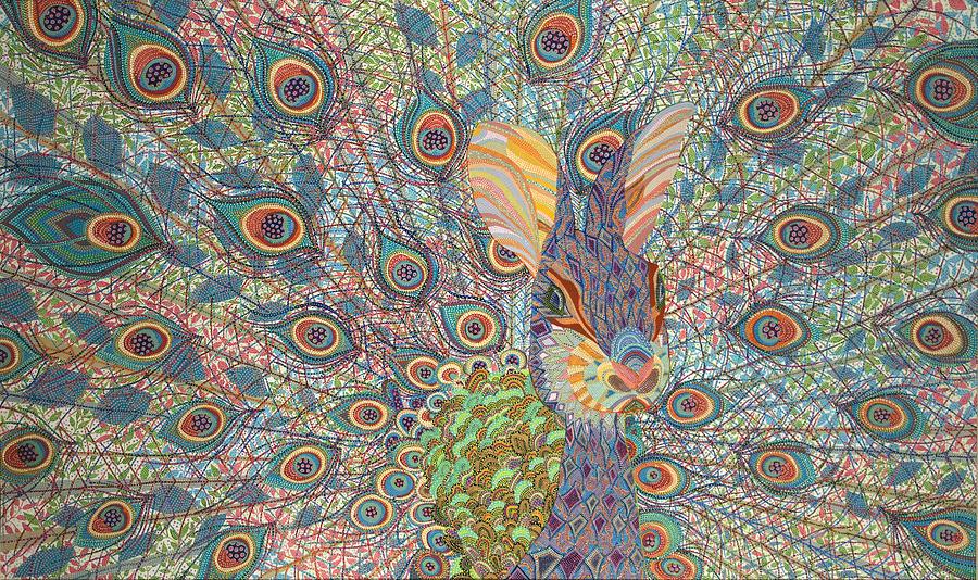 Peacock Painting - Peabit  by Erika Pochybova