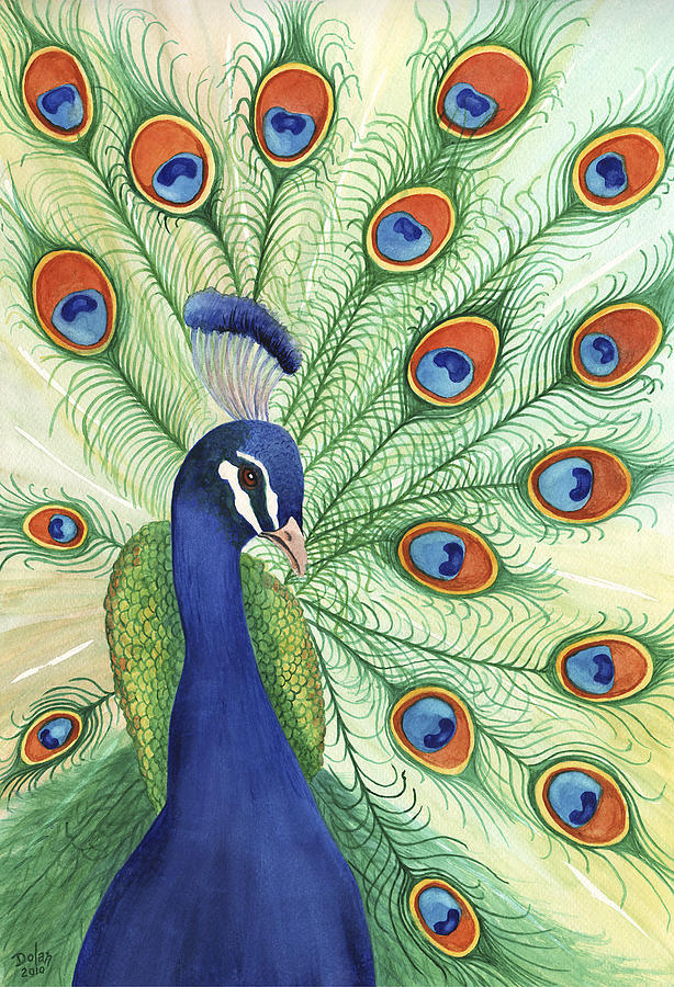 Peacock Painting by Greg Dolan
