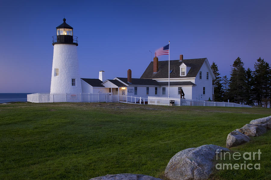 Pemaquid Point Photograph - Pemaquid Point Lighthouse by Brian Jannsen