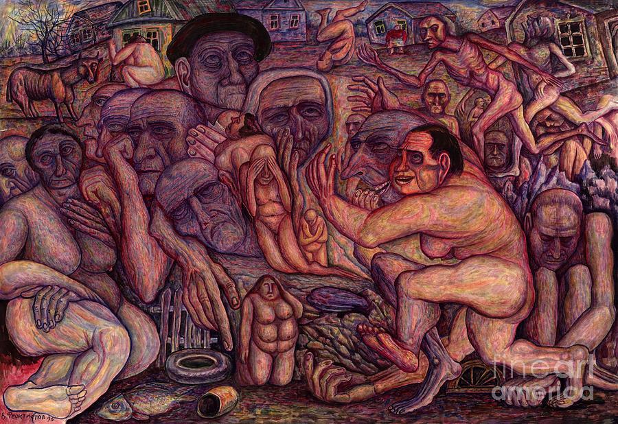 Vladimir Feoktistov Painting - People Of Darkness by Vladimir Feoktistov