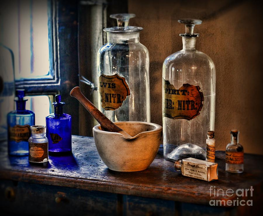 Pharmacist - Mortar And Pestle Photograph by Paul Ward