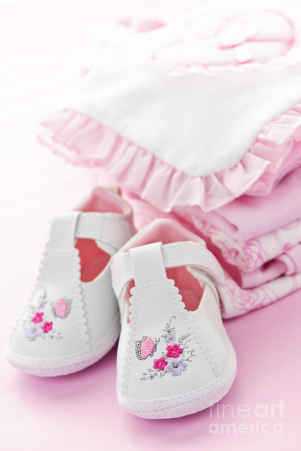 Baby Clothes Photograph - Pink Baby Clothes For Infant Girl by Elena Elisseeva