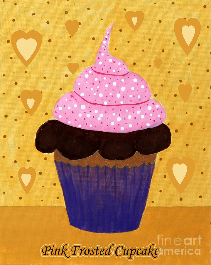 Pink Frosted Cupcake Painting - Pink Frosted Cupcake by Barbara Griffin