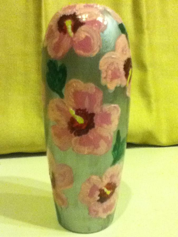 Hibiscus Painting - Pink Hibiscus by Berta Barocio-Sullivan