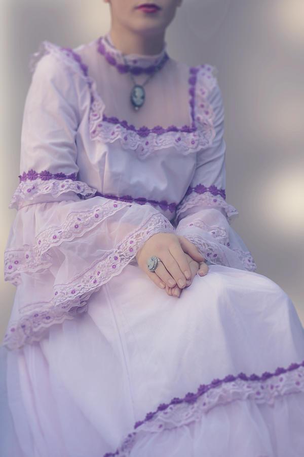 Woman Photograph - Pink Wedding Dress by Joana Kruse