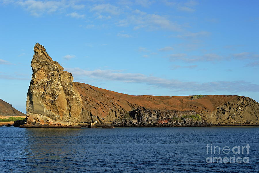 Tranquil Scene Photograph - Pinnacle Rock Viewed From Sea by Sami Sarkis