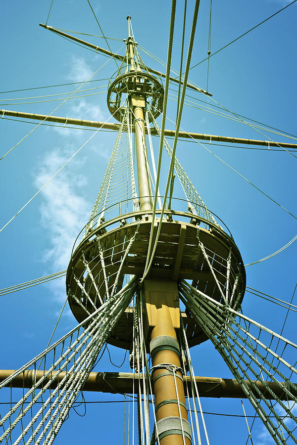 Mast Photograph - Pirate Ship by Joana Kruse