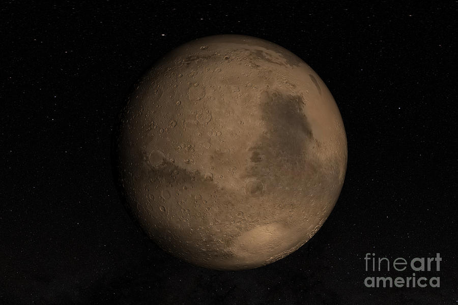 Outer Space Photograph - Planet Mars by Stocktrek Images