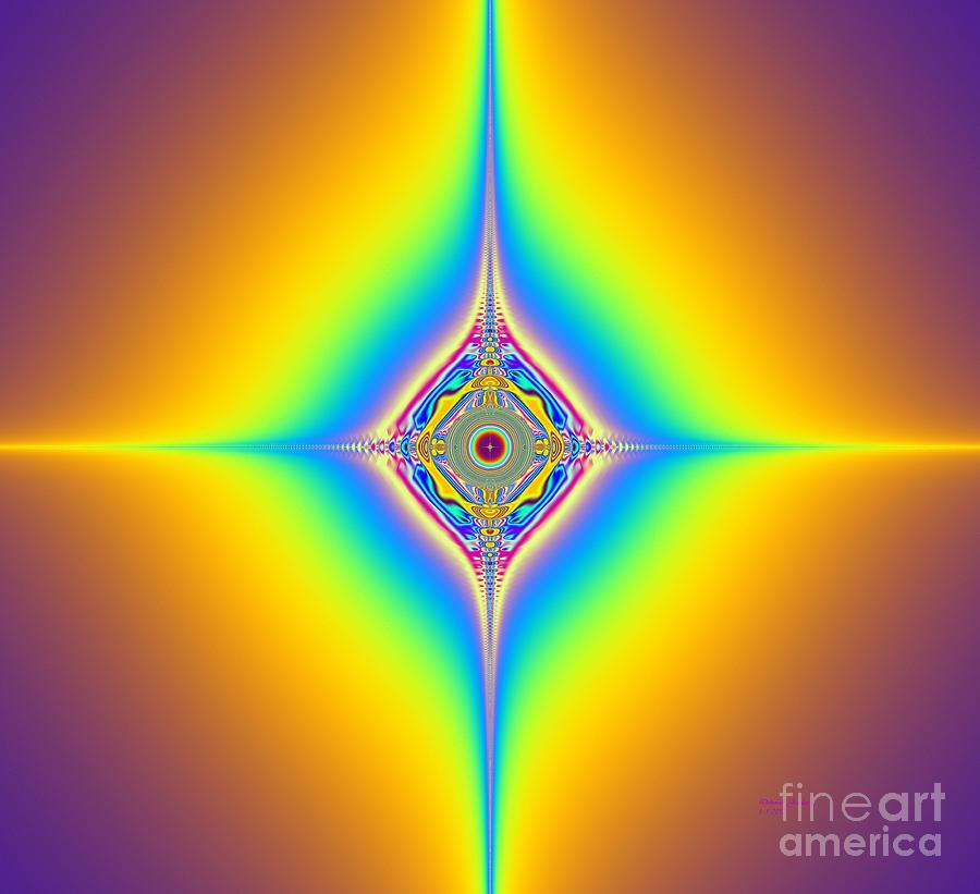 Planetary Star Rings Digital Art by Deborah Juodaitis