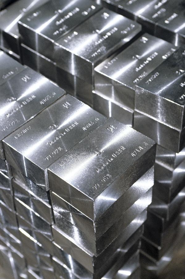 Platinum Photograph - Platinum Bars by Ria Novosti