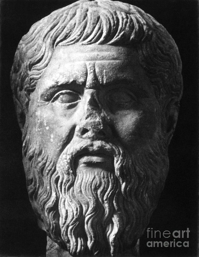 Ancient Photograph - Plato (c427 B.c.-c347 B.c.) by Granger