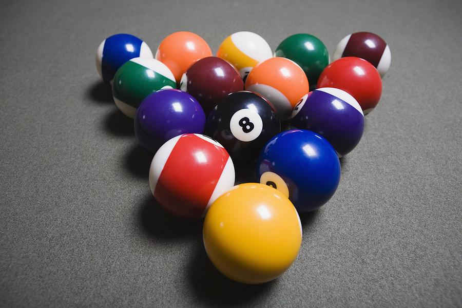 Balls Photograph   Pool Balls On A Billiard Table With The By Michael  Interisano