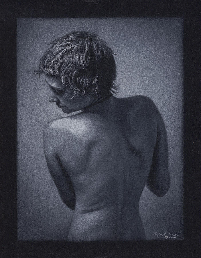 Drawing Drawing - Posterior Nude by Tyler Smith