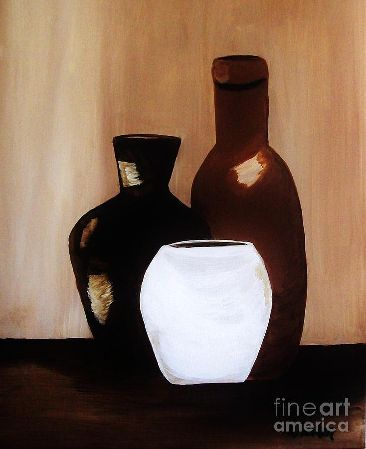 Painting Painting - Pottery From Portugal  by Marsha Heiken