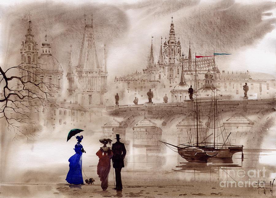 Prague Painting - Prague II by Svetlana and Sabir Gadghievs