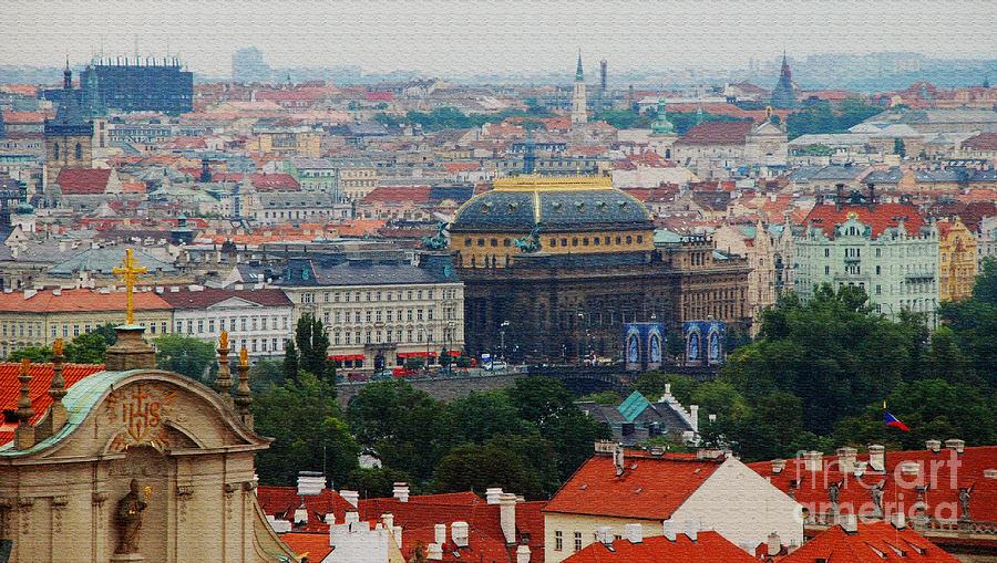 Prague Digital Art - Prague Skyline by Pravine Chester