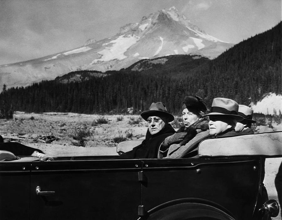 1930s Candid Photograph - President Franklin D. Roosevelt, First by Everett