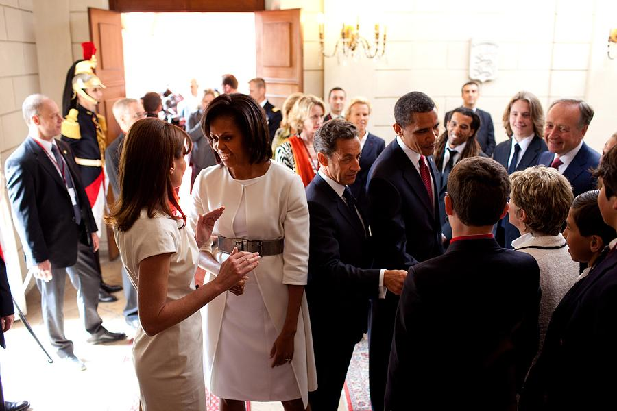 History Photograph - President Obama And French President by Everett