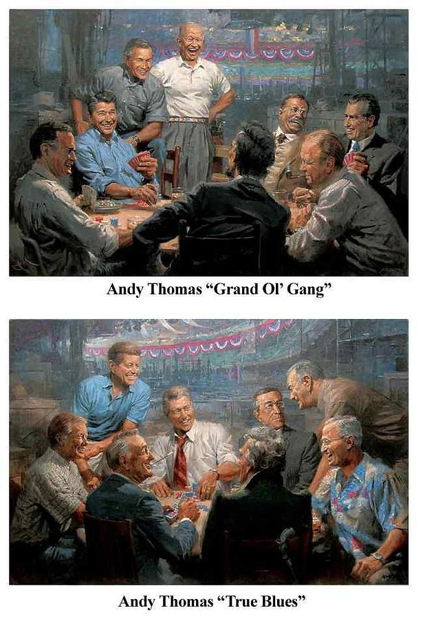 Andy Thomas Painting - Presidents by Andy Thomas