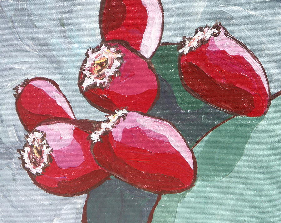 Cactus Painting - Prickly Pear Fruit by Sandy Tracey