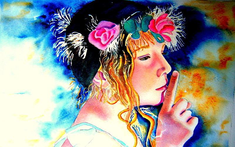 Watercolour Painting - Princess by Amanda Pillet